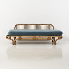 Day bed  bamboo, wicker and velvet  Creation date: 1950  Edition: Bonacina  H 64 × W × D 90 cm 190