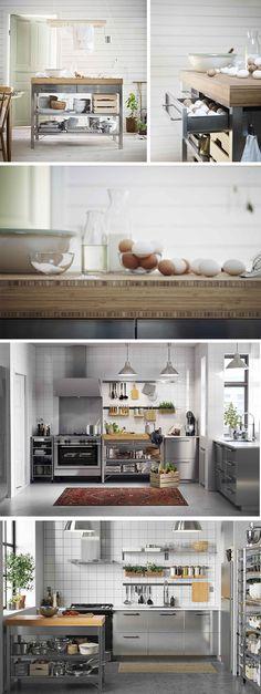 Kleine küche einzeilig küchenzeile wenig platz hell helle küche weiß creme magnolie magnolia beige hochglanz hochglänzend glänzend lack idee