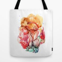 The Gold Fish Tote Bag by FlowerFairyArt - $22.00