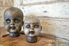 HOW TO make Spooky Vintage Doll Heads!
