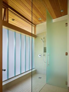 Wonderful Courtyard House Design in Seattle: Fabulous Shower Room In Project Courtyard House Deforest Architects With Glass Wall With Modern. Brown Bathroom, Glass Bathroom, Modern Bathroom, Glass Shower, Bathroom Ideas, Bathroom Plumbing, Shower Door, Bathroom Inspiration, Interior Exterior