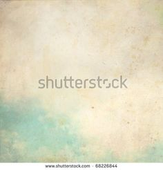 Water color like cloud on old paper texture background - stock photo