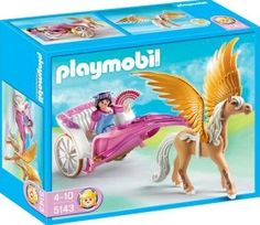 PLAYMOBIL® Princess with Pegasus Carriage, No. 5143 `One size Details : 1 hats, 1 coach and its superb horse, the horses wings are movable, 1 Characters, Theme: PLAYMOBIL Princess Age : Age 4 and upwards http://www.comparestoreprices.co.uk/january-2017-7/playmobil®-princess-with-pegasus-carriage-no-5143-one-size.asp