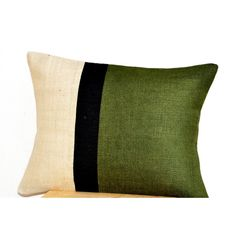 Green Burlap Pillow Cover -Geometric Graphic Pillow Color Block... (£19) ❤ liked on Polyvore featuring home, home decor, throw pillows, toss pillow, geometric home decor, dark green throw pillows, green accent pillows, burlap home decor and forest green throw pillows