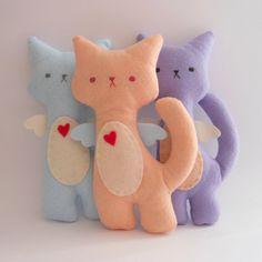 Kitty Cat Plush - flor Set de 3 juguetes de peluche y suaves