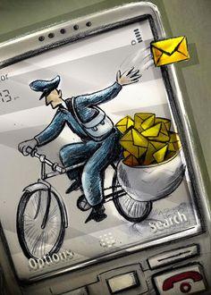 Mohsen Asadi Euro-Kartoenale Kruishoutem 2013 'The Bicycle'