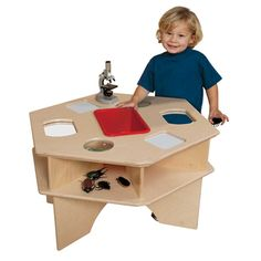 Wood Designs Deluxe Science Activity Table Wood D. Classroom Furniture, Library Furniture, Classroom Supplies, Furniture Direct, School Furniture, School Improvement Plan, Science Table, Science Area, Cnc