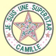 logo à personnaliser Je suis une Superstar - 5 tailles                                                                                                                                                                                 Plus