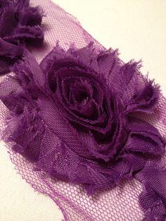 Purple Chiffon Flowers by MonAmiePaperie on Etsy, $5.44