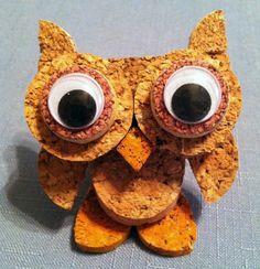 """An animal lover, I thoroughly enjoy creating fun creatures using recycled corks - whether as three-dimensional figurines or as wall hangings. In fact, the first ever """"Cork Creation"""" was a dog. Wine Craft, Wine Cork Crafts, Bottle Cap Crafts, How To Make Ornaments, Crafts To Make, Diy Cork, Wine Cork Ornaments, Wine Cork Projects, Wine Cork Art"""