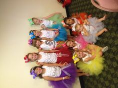 Tutu 6th birthday party idea!!! :) all girls feel special and the tutus are there party gifts!!! :) If you want a tutu made email jsctt5@yahoo.com ship in the USA only.