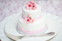 Mini Cherry Blossom wedding cake