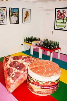 pizza My Room, Bean Bags, Pizza Burger, Hamburger Pizza, Couch,  Cheeseburgers cc685b3734
