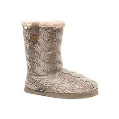 Women's MUK LUKS Arden Slipper Boot - Taupe Casual (200 CNY) ❤ liked on Polyvore featuring shoes und slippers