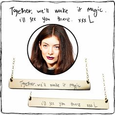 """Custom 2"""" nameplate necklace for Lorde. Www.theurbansmith.com"""