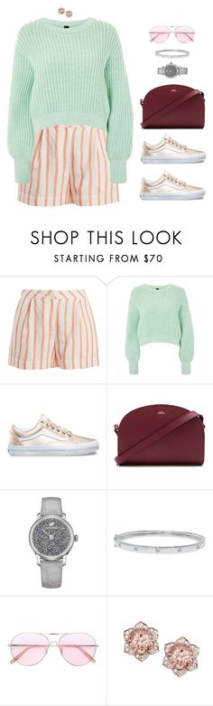 """""""Binge eating"""" by xoxomuty on Polyvore featuring Thierry Colson, Topshop, A.P.C., Swarovski, Oliver Peoples, ootd and polyvoreOOTD"""