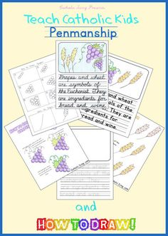 Check out this Catholic how-to-draw. It's free to download and also includes handwriting practice!