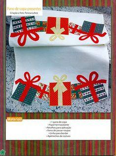 molde de pano de prato  de natal - patchaplique