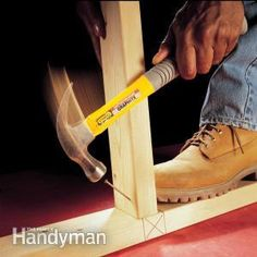 The art of toenailing is easy to learn. With a little practice you can drive an angled nail perfectly every time.