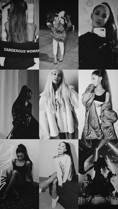 Black and white ⭐ -Ariana Grande ❤ -Wallpaper✨
