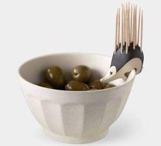 Kipik's Hedgehog Shaped Toothpick Holder has got to be the...