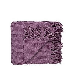Home Collection - Mauve chunky chenille throw