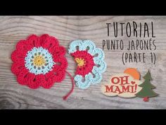 Cómo hacer Flor Japonesa a crochet- How to crochet japanese flower - YouTube