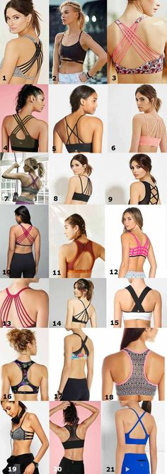 A list of cute sports bra for running and working out.