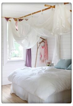 Whimsical Bamboo Bed Canopy