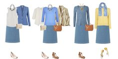 Summer capsule wardrobe for a light and warm coloured client