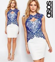 国内発送☆関送込☆ASOS☆Lipsy Lace Detail Bodycon Midi Dress