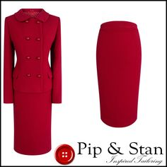 HOBBS UK12/10 US8/ RED WOOL PENCIL SKIRT SUIT 50S INSPIRED WOMENS LADIES SIZE | eBay