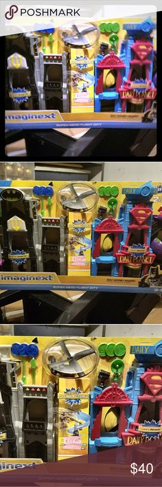 Imaginext Batman Superman Playset NWT $40 Brand New, Never opened Imaginext Batman/Superman Playset. Paid $79 originally, asking $40. Thank you for stopping by my closet!  I welcome all reasonable offers!! Imaginext Other