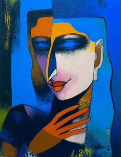 Woman series, paintings by Dayanand K. Kamakar - ego-alterego.com