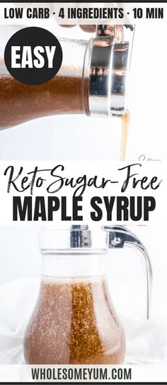 Keto Syrup Recipe, Maple Syrup Recipes, Sugar Free Maple Syrup, Low Carb Maple Syrup Recipe, Sugar Free Honey, Maple Sugar, Low Sugar, Ketogenic Recipes, Keto Recipes