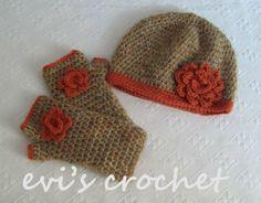 crochet hat gloves