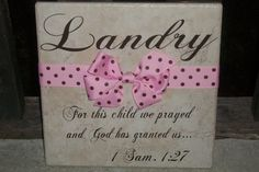 Vinyl Monogrammed Baby Tile by SuiteHomeAlabama on Etsy, $22.95