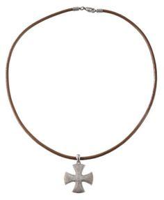 Men's Corded Cross Pendant Necklace - Sheplers
