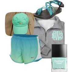 Southern Marsh, Chacos, Nike shorts, a monogrammed pullover, and Butter London polish. I already have the hat and Chacos.