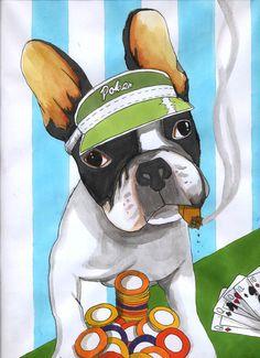 French Bulldog , Poker , Jeroen Teunen