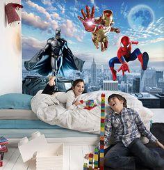 Tapisserie 3d papier peint chambre d 39 enfant les minions - Papier peint decoration murale ...