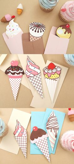 Ice cream paper kawaii