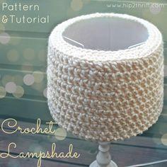 crocheted lamp shade tutorial #craft
