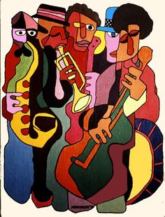 Jazz/fun inspiration for sketch.music style of students choice