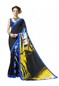 sasural Women Multi Color Silk Designer Saree