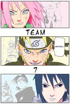 Naruto And Sasuke, Anime Naruto, Naruto Team 7, Naruto Fan Art, Naruto Comic, Naruto Shippuden Sasuke, Naruto Funny, Sakura And Sasuke, Kakashi