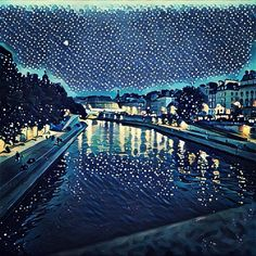 A Prisma filter turns the quai des Grands Augustins into something straight off a Van Gogh canvas. Vincent Van Gogh, Paris France, Parisian, Filters, River, Night, Street, Canvas, City