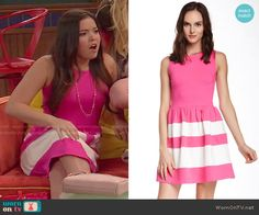 Jasmine's pink striped dress on I Didn't Do It.  Outfit Details: http://wornontv.net/50678/ #IDDI
