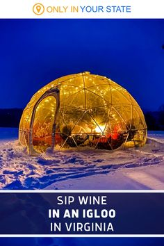 Sip delicious mulled wine inside a cozy, private heated igloo at this charming Virginia winery. It's great for winter drinks. Winter Fun, Winter Travel, Farm Restaurant, Best Bucket List, Vacations In The Us, Virginia Wineries, Winter Drinks, Mulled Wine, Beautiful Places To Travel