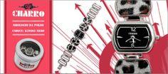 Charro cod. K29365 nero. Orologio da polso donna, al quartz analogico. Garanzia 24 mesi.